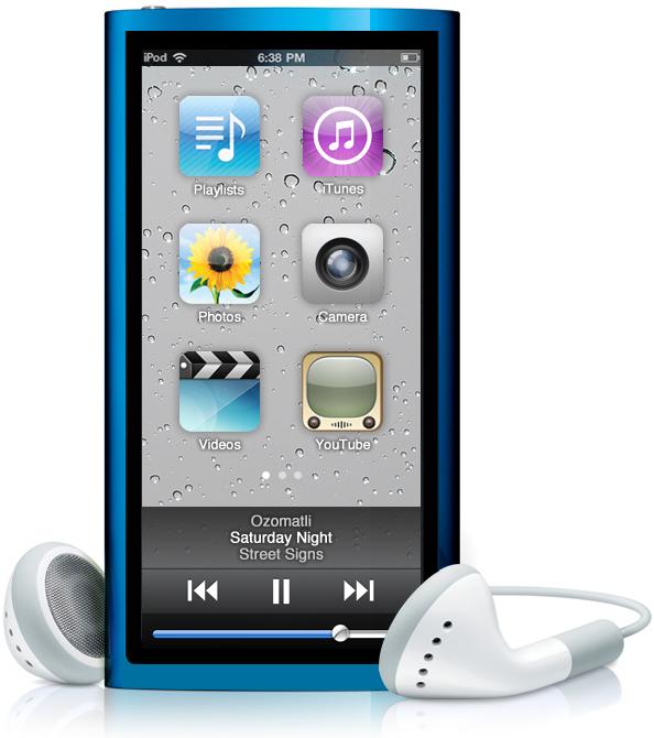 Mockup de iPod nano 7G