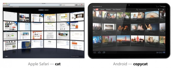 Top Sites do Safari vs. YouTube no Android Honeycomb