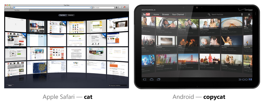 Top Sites do Safari vs. YouTube no Android Honeycomb