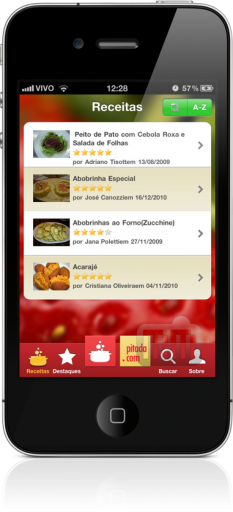 Pitada.com no iPhone