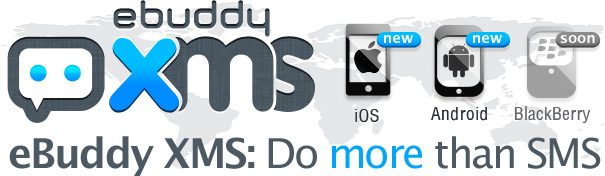 Banner do eBuddy XMS