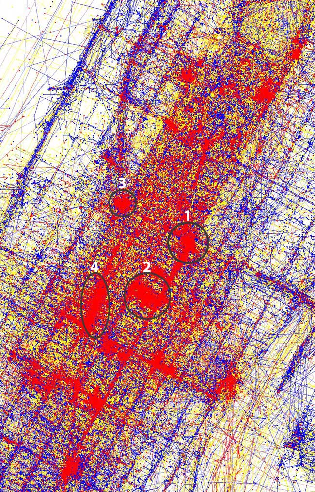 Mapa de fotografias de Nova York