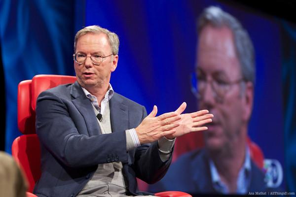 Eric Schmidt, presidente do Google, durante a D9