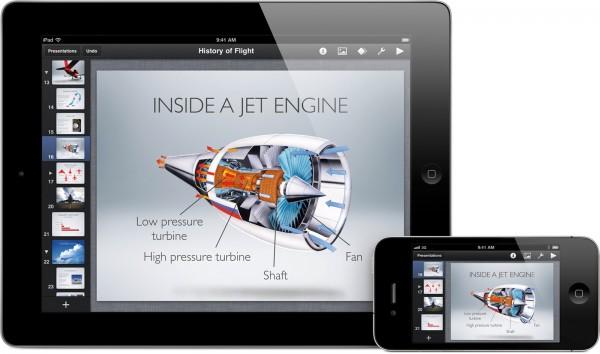 Keynote da iWork no iOS