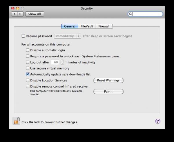 Removedor de malwares do Mac OS X