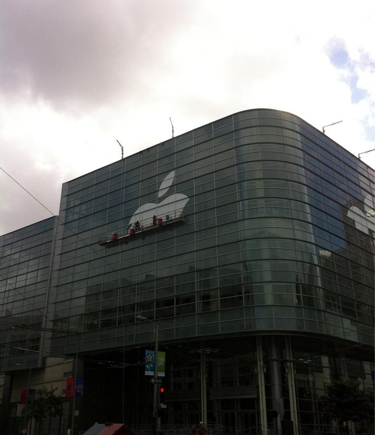 Moscone West sendo preparado para a WWDC 2011