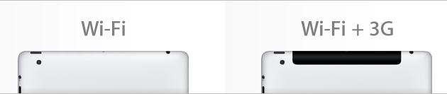 iPads Wi-Fi e Wi-Fi+3G
