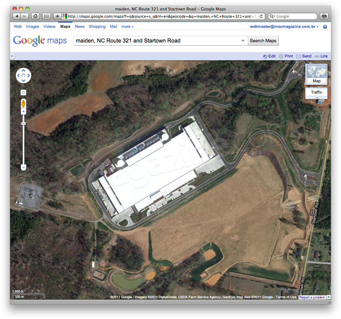 Data Center da Apple no Google Maps