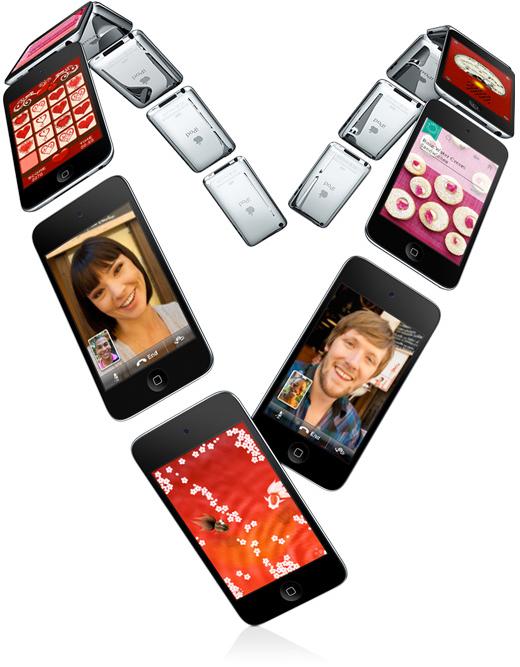 Coração de iPods touch