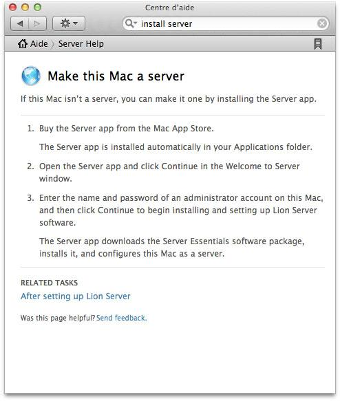 Server do Mac OS X Lion na App Store