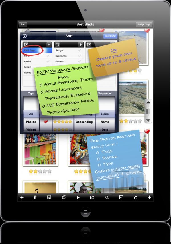 Sort Shots - iPad