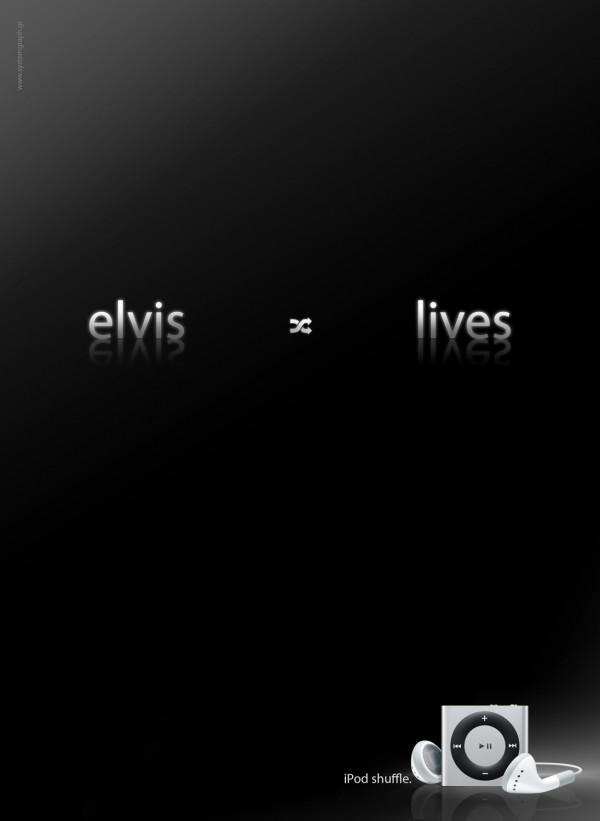 Elvis em iPod shuffle