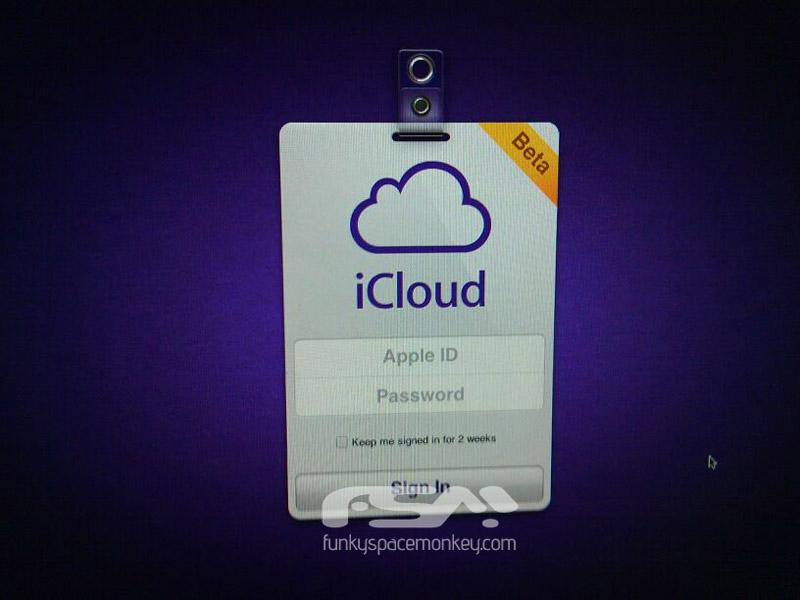 Tela de login do iCloud