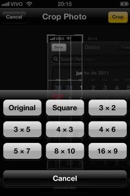 Opções de câmera - iOS 5