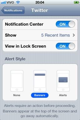 Configurando notificações - iOS 5