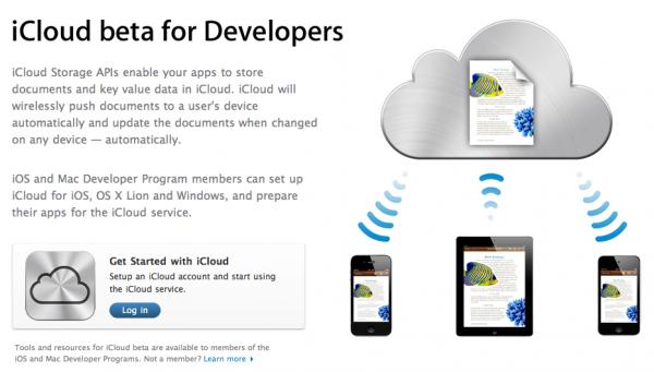 iCloud beta para desenvolvedores