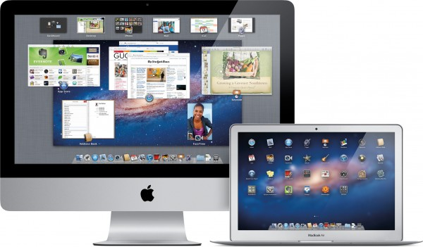 iMac e MacBook Air com o OS X Lion