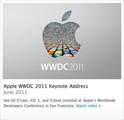 Keynote da WWDC 2011