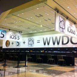 Moscone Center na madrugada de hoje para a WDC 2011