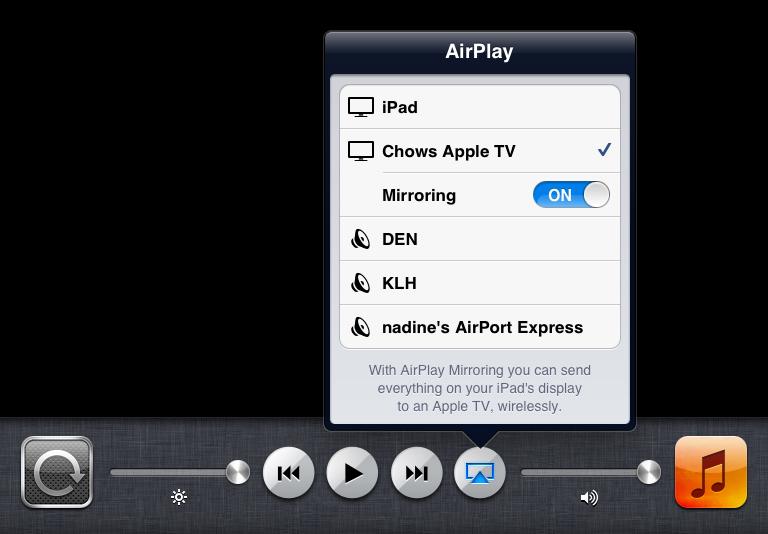 AirPlay Mirroring no iPad 2 com iOS 5