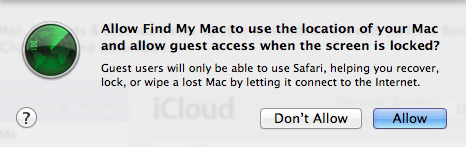 Find My Mac no OS X Lion