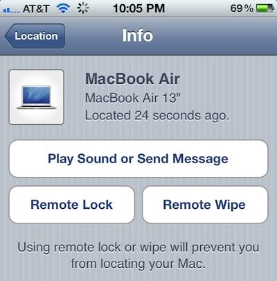 Find My Mac no OS X Lion