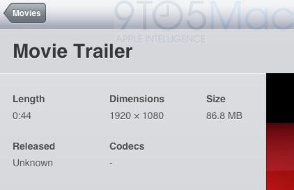 Vídeo em Full HD 1080p no iOS 5