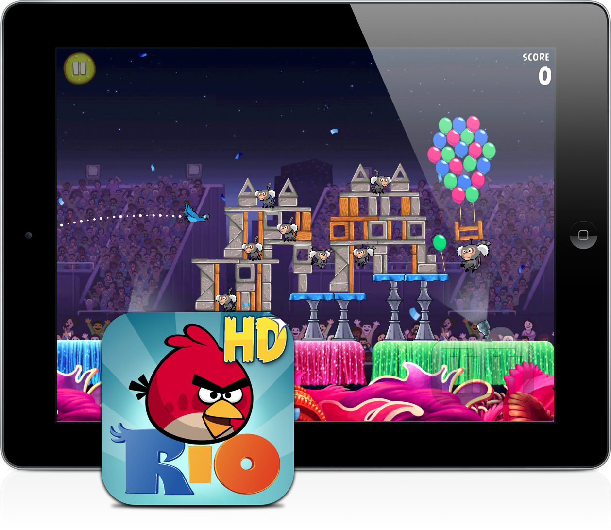 Angry Birds Rio no iPad