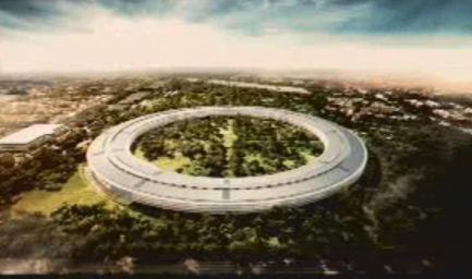 Campus espaçonave da Apple em Cupertino