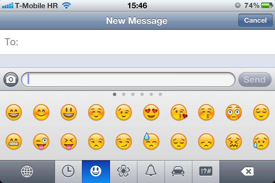 Emoji no iOS 5