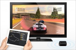 Real Racing HD 2 com AirPlay Mirroring