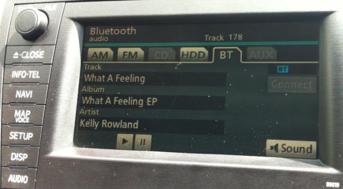 Metadados transmitidos por Bluetooth