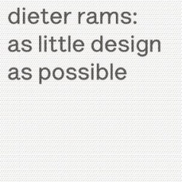 As Little Design As Possible - Dieter Rams