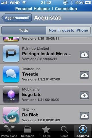 Tweetie no iCloud