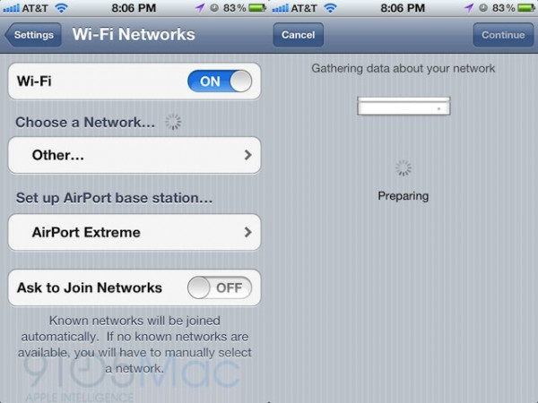 AirPort no iOS 5