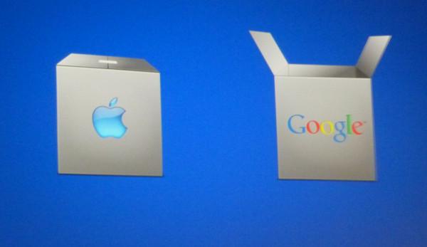 Apple fechada, Google semiaberto