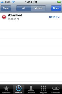 Removendo chamadas individuais no iOS 5