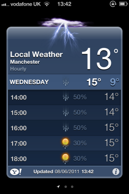 Weather no iOS 5