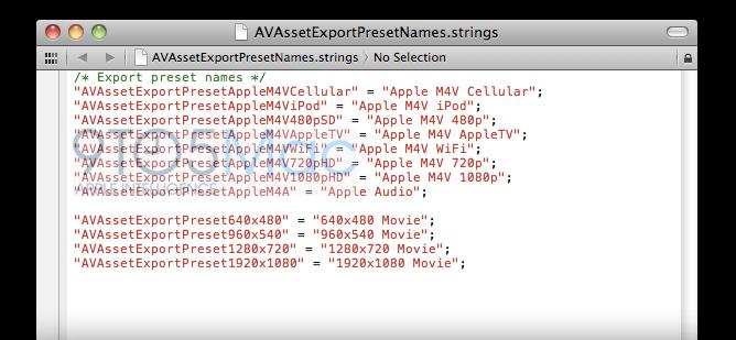 Código de exportação em 1080p no iOS 5