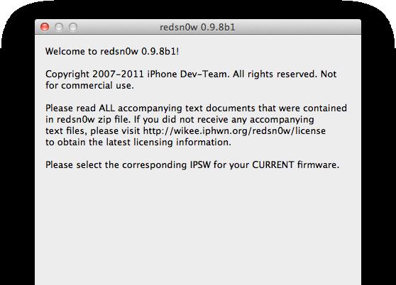 redsn0w do iOS 5 beta