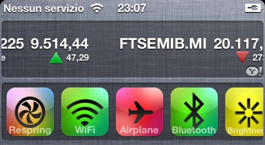 Widget do UISettings no iOS 5