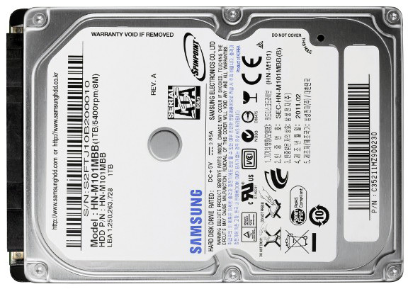 HDD de 1TB da Samsung