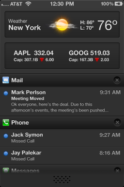 Visual alternativo para o Notification Center - Jay Moon
