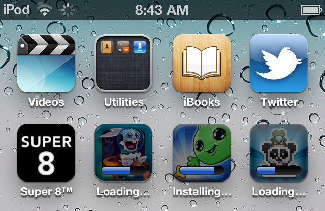 Downloads e instalações simultâneas