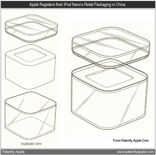 Design de embalagem de iPod nano/shuffle
