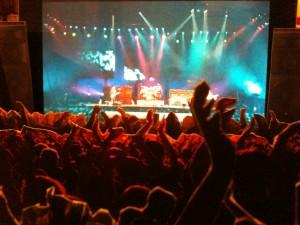 Diorama de show de rock