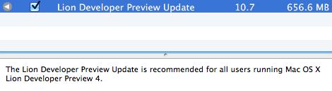Atualização para o Developer Preview 4 do OS X Lion
