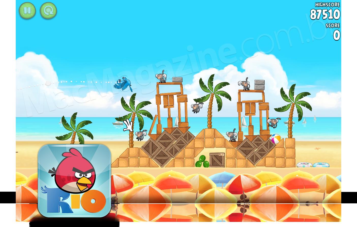 Angry Birds Rio 1.1 no Mac