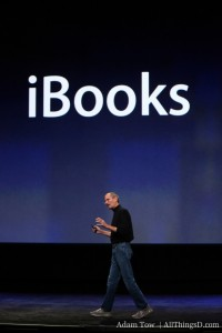 Steve Jobs em keynote sobre o iBooks