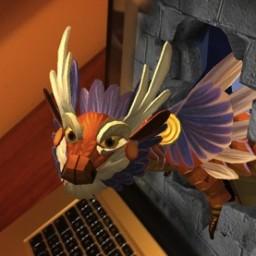Dave, o dragão de realidade aumentada da String